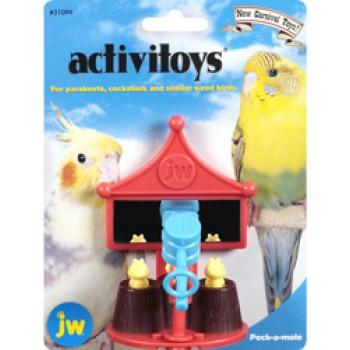 JW Игрушка д/птиц - Зеркальце с вращающейся погремушкой-молотком, пластик Activitoy peck a mole (31099)