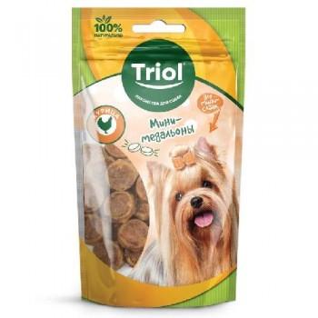 Triol / Триол Мини-медальоны из курицы для мини-собак, 50г