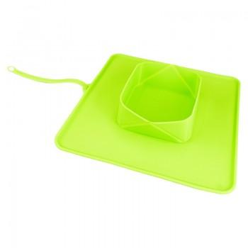 SuperDesign миска дорожная силиконовая зеленая