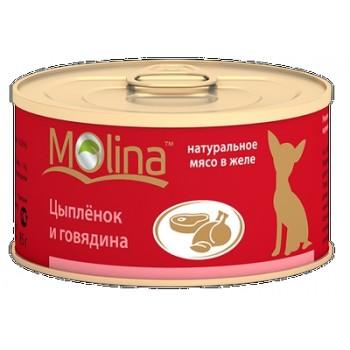 Molina / Молина Консервы д/собак Цыпленок с говядиной, 85 г