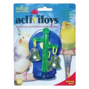JW Игрушка д/птиц - Крутящиеся колокольчики, пластик, Sprinning Bells Toy for birds (31043)