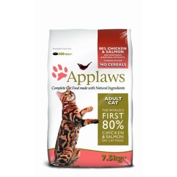 "Applaws / Эпплаус для кошек ""Курица и Лосось/Овощи: 80/20%"" 7,5 кг"