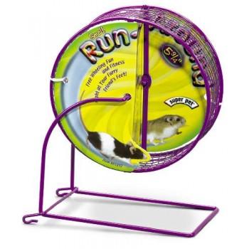 Super Pet Колесо с сеткой на подставке д/грызуна, мет., 14,61 см 61392