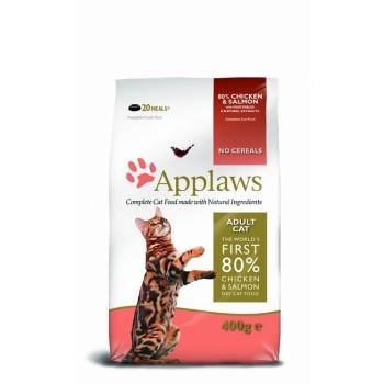 "Applaws / Эпплаус для кошек ""Курица и Лосось/Овощи: 80/20%"" 0,4 кг"
