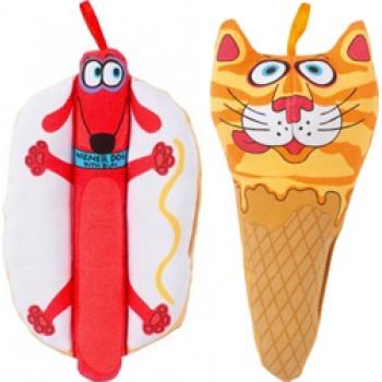 "Fat Cat Игрушка д/собак - ""Звери - закуски"", мягкая,, Mini Snacklers Dog Toy (665024)"