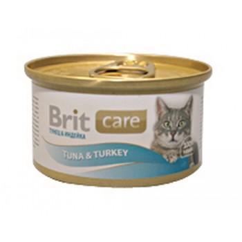 Brit / Брит Консервы д/кошек Brit Care Tuna&Turkey Тунец и индейка, 80г
