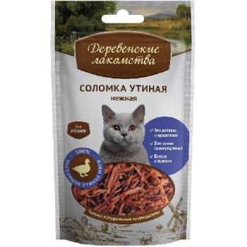 Деревенские лакомства для кошек Соломка утиная нежная, 45 гр