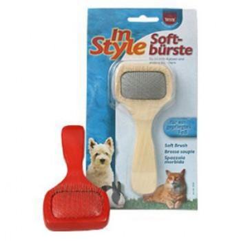 Trixie / Трикси Щетка-пуходерка д/собак и кошек без капли, пластиковая ручка 13,5*6см 2358