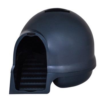 Booda dome Туалет-купол с лесенкой чистые лапки д/домашних животных (синий) 57x57x50 см