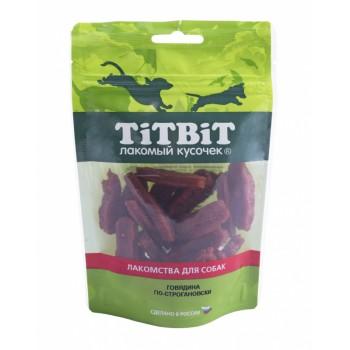 TitBit / ТитБит Говядина по-строгановски для собак Золотая коллекция 80 г