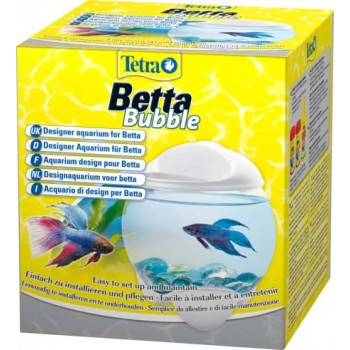 Tetra / Тетра Betta Bubble белый аквариум-шар для петушков с освещением 1,8 л