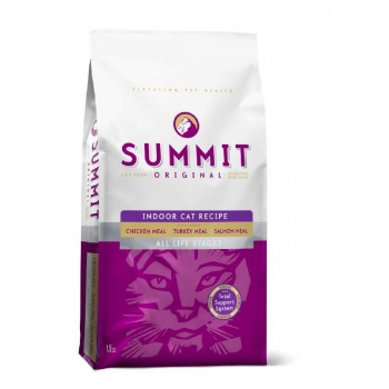Summit holistic / Саммит Холистик Для домашних кошек три вида мяса с цыпленком, лососем и индейкой - все стадии жизни 1,8 кг