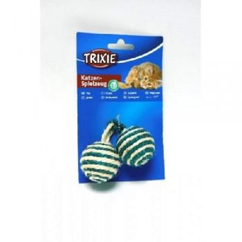 Trixie / Трикси 4077 Игрушка д/кошек 2 мяча веревочных 2х4,5см