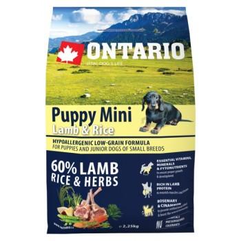 Ontario / Онтарио для щенков малых пород с ягненком и рисом 2,25 кг