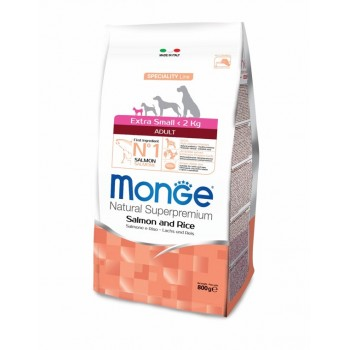 Monge / Монж Dog Speciality Extra Small корм для взрослых собак миниатюрных пород лосось с рисом 800г