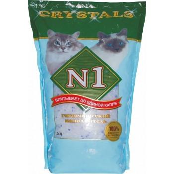 №1 Наполнитель Crystals - силикагелевый 5л
