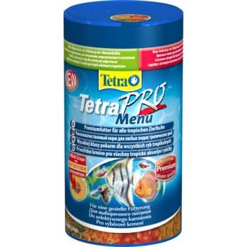 "TetraPro / Тетра Menu корм для всех видов рыб ""4 вида"" мелких хлопьев 250 мл"