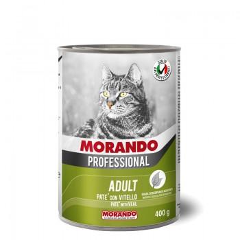 Morando / Морандо Professional консервированный корм для кошек паштет с телятиной, 400г, жб