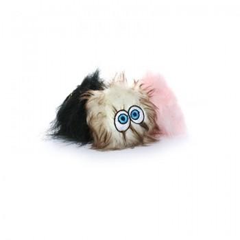 Silly Squeakers Игрушка-пищалка для собак Пушистый мяч с глазами набор из 3 маленьких мячей, черный, коричневый, розовый (iBall Small Black, Brown & Pink) SS-IB-S-BL-BR-PK
