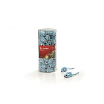 """I.P.T.S. 440448 набор игрушек д/кошек """"Мышь веревочная"""" голубая 5см (туба)"""