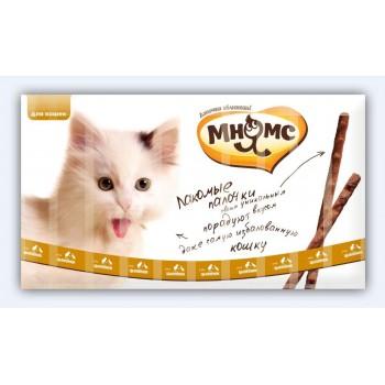 Мнямс лакомые палочки 13,5 см для кошек с цыпленком и уткой 10х5 г