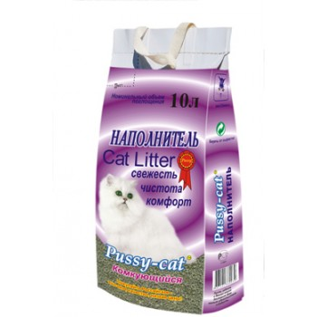 Наполнитель Пусси-Кет комкующийся (фиолетовый) 4,5л