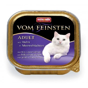 Animonda Vom Feinsten Adult конс. 100 гр. Курица / морепродукты для кошек (ламистер) 83853