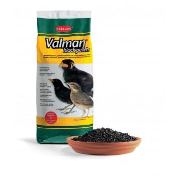 Padovan / Падован 00398 Valman black pellets Корм дополнительный д/насекомоядных птиц с Активированным углем и овощами 1кг