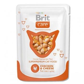 Brit / Брит пауч д/кошек Chicken&Cheese Курица и сыр, 80г