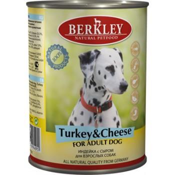 Berkley / Беркли кон. д/собак индейка с сыром 400гр
