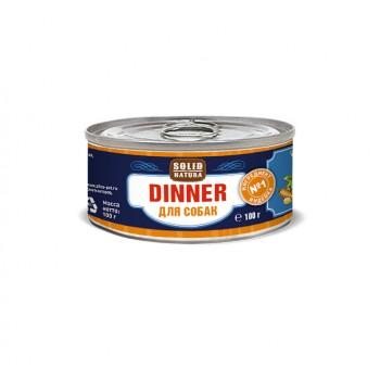 Solid Natura Dinner / Солид Натур Диннер Индейка влажный корм для собак жестяная банка 0,1 кг