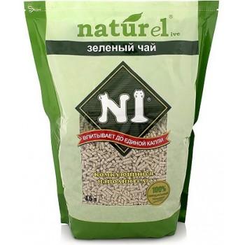 """№1 Наполнитель NATUREL """"Зеленый чай"""" Комкующийся 17,5 л (1х3 ) 92405"""