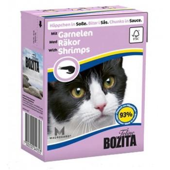 Bozita / Бозита кон.д/кошек Кусочки в соусе с Креветками 370гр