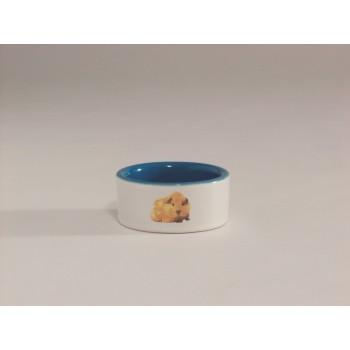 Beeztees / Бизтис 801630 Миска керамическая с изображением хомяка, голубая 120мл*7,5см
