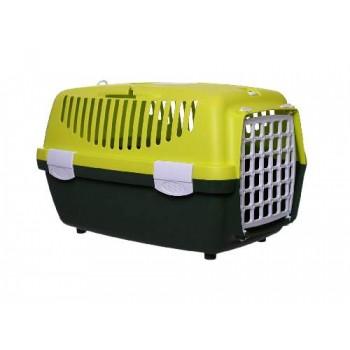Stefanplast / Стефанпласт Переноска Gulliver 1 Trendy Colour салатово-зеленая (до 6кг) с ПЛАСТИК.дверкой, 48*32*31см