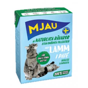 Mjau / Мяу мясной паштет с ягненком в упаковке Tetra Recart, 380гр. (1х16) 3839