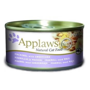 Applaws / Эпплаус Консервы для кошек со Скумбрией и Сладкой кукурузой 0,07 кг