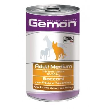 Gemon / Гемон Dog Medium для собак средних пород кусочки курицы с индейкой 1250 г