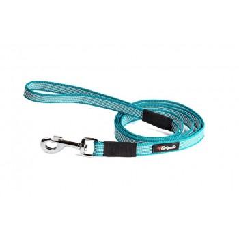 Gripalle / Грипэлле 20-150S 4336 Поводок нейлоновый прорезиненный для собак, стальная фурнитура 20 мм*150 см, Бирюза
