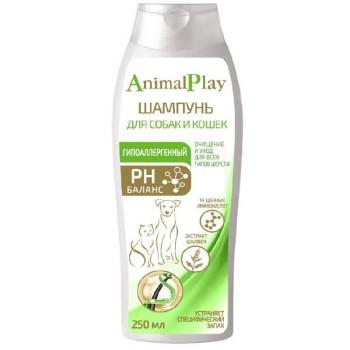 Animal Play / Энимал Плэй Шампунь д/собак и кошек Гипоаллергенный с аминокислотами и экстрактом шалфея 250мл