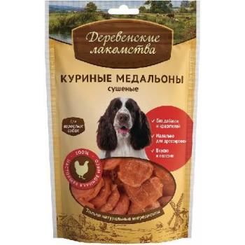 Деревенские лакомства для взр/собак Куриные медальоны сушеные, 90 гр