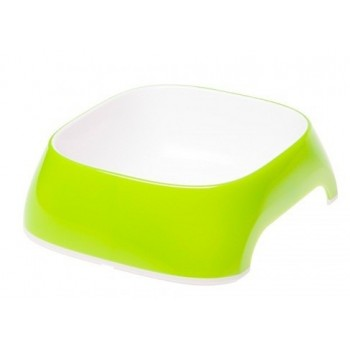 FERPLAST / ФЕРПЛАСТ Миска Glam MEDIUM пластиковая, лайм, 0,75 литра 71214023
