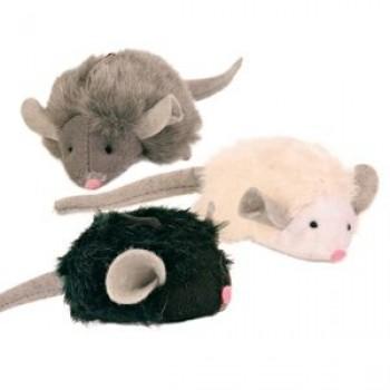 "Trixie / Трикси Набор игрушек д/кошек ""Мягкие мышки с микрочипом"" 6,5см*12шт 4199"