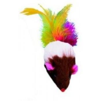 Nobby / Нобби Игрушка для кошек Мышка с перьями 5см 80111