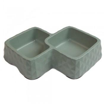 Bobo / Бобо Миска двойная, 29.9x18.9x5.5 см, 360+430 мл, зеленый