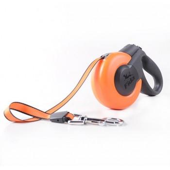 Fida / Фида Mars Рулетка 5м тросс для собак мелких пород до 15 кг оранжевая/черная 5135419