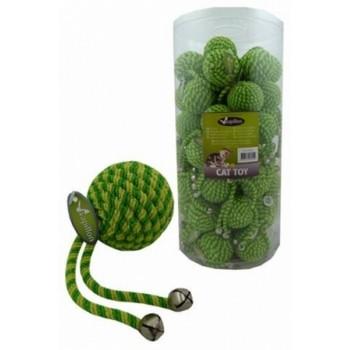 """Papillon / Папиллон Игрушка для кошек """"Мячик"""" с бубенчиком, зеленый, нейлон, 5см"""