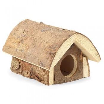 Gamma / Гамма Домик-избушка для мелких животных из неокоренного дерева, 120*160*100мм
