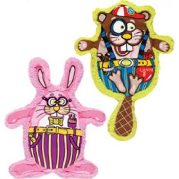 Fat Cat Игрушка д/собак - Скрипящий бобр, мягкая, Squeak-a-zoids Dog Toys (assort)