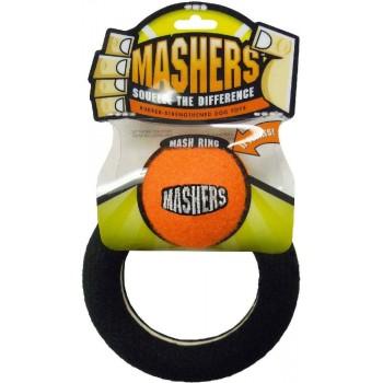 """R2P игрушка для собак Masher """"Кольцо с мячиком"""" вспененная резина с покрытием теннисного мяча 15 см ВЫГОДНАЯ ЦЕНА"""
